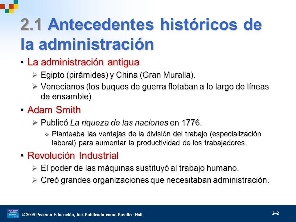 2.1 Antecedentes históricos de la administración
