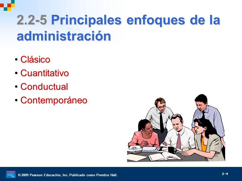 2.2-5 Principales enfoques de la administración