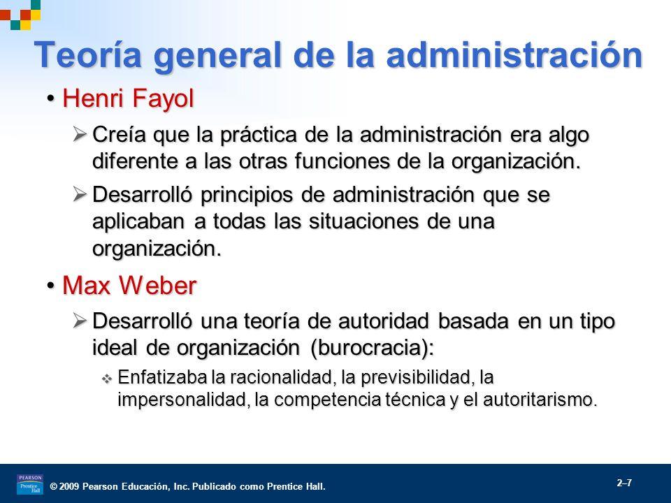 Teoría general de la administración