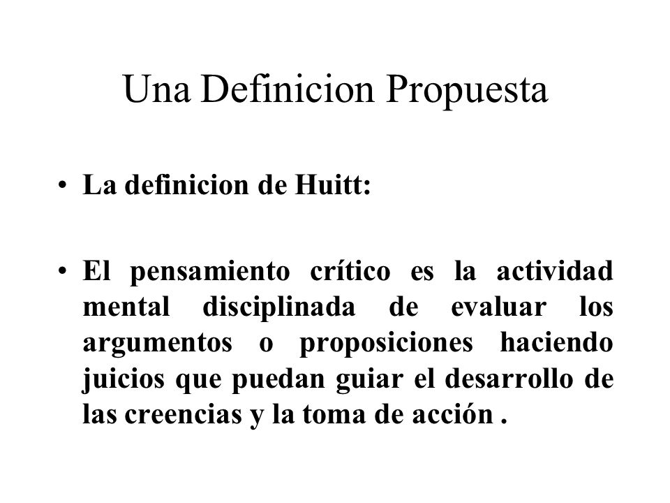 Una Definicion Propuesta