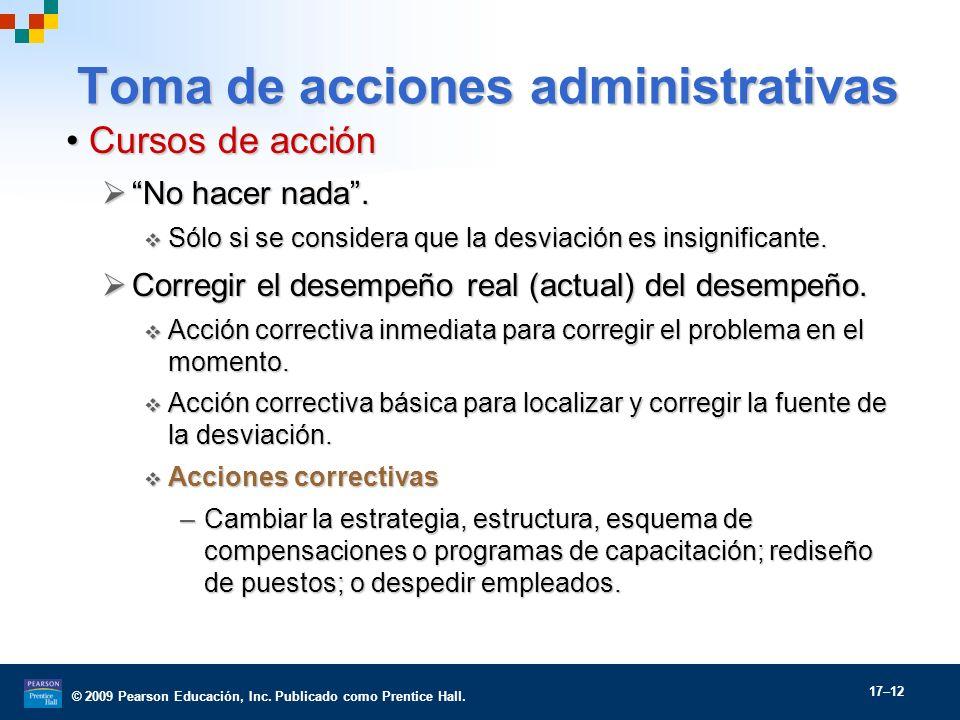 Toma de acciones administrativas