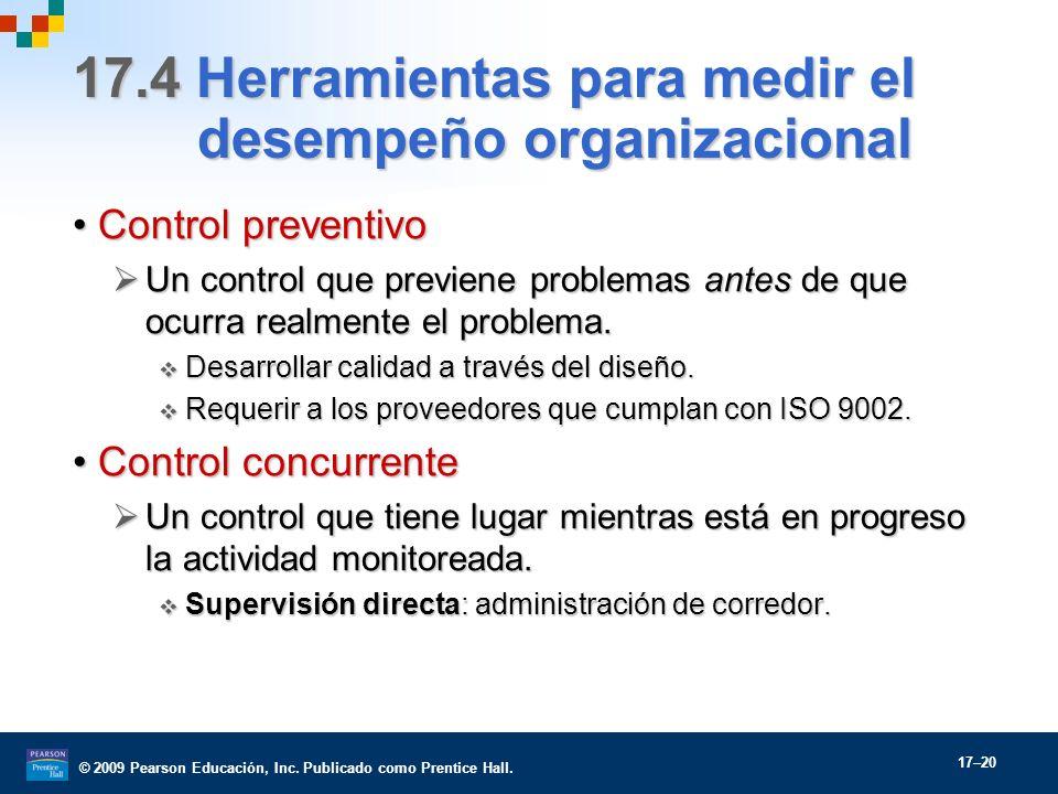 17.4 Herramientas para medir el desempeño organizacional