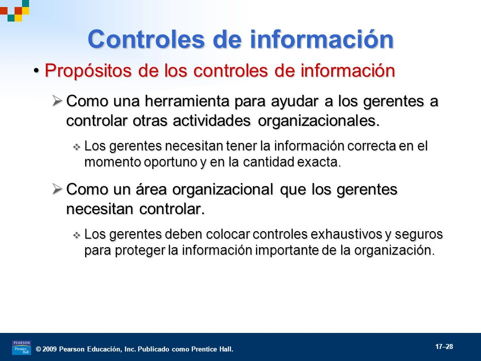 Controles de información