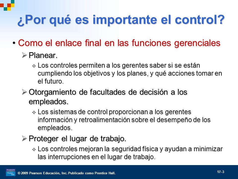 ¿Por qué es importante el control