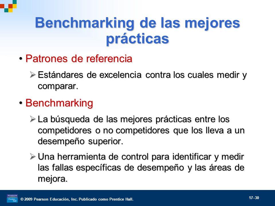Benchmarking de las mejores prácticas