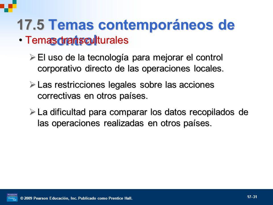 17.5 Temas contemporáneos de control