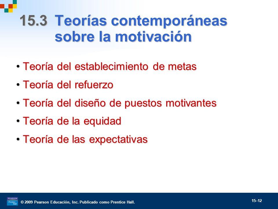 15.3 Teorías contemporáneas sobre la motivación
