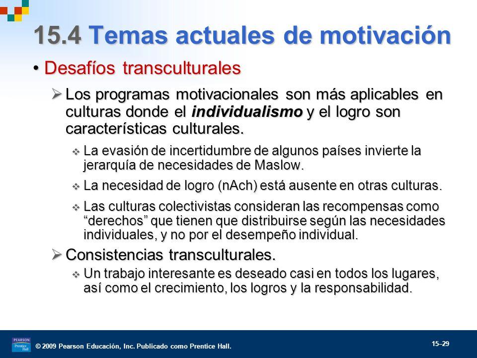 15.4 Temas actuales de motivación
