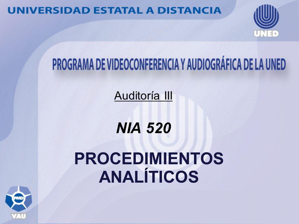 NIA 520 PROCEDIMIENTOS ANALÍTICOS