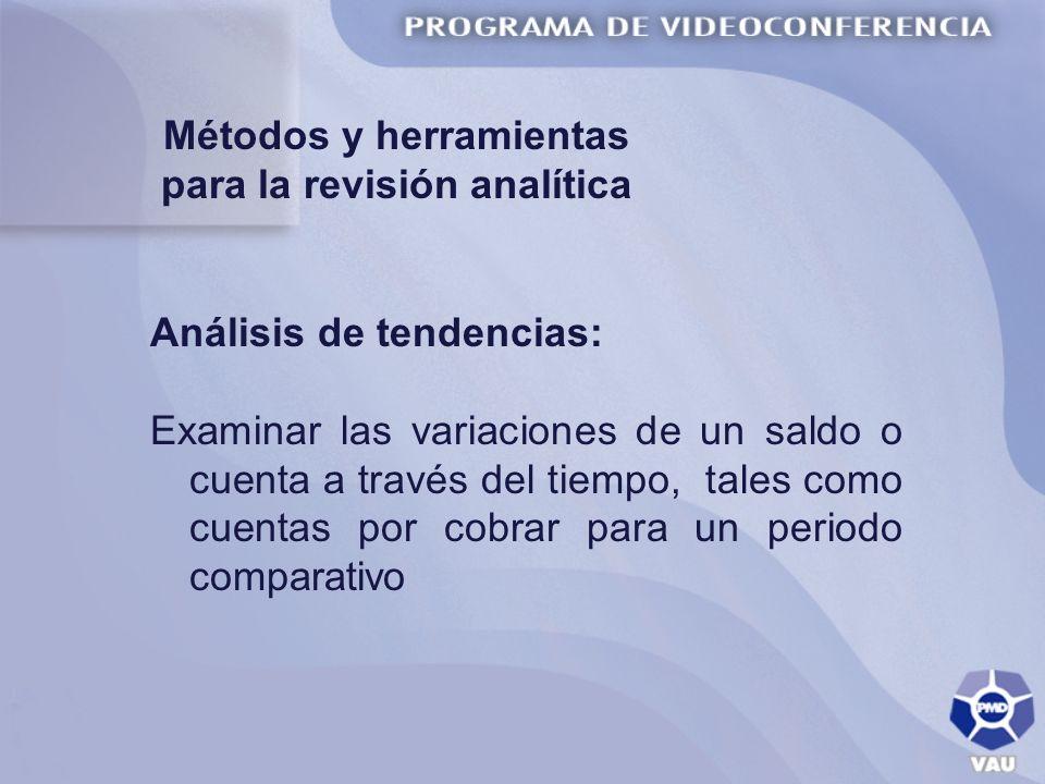 Métodos y herramientas para la revisión analítica