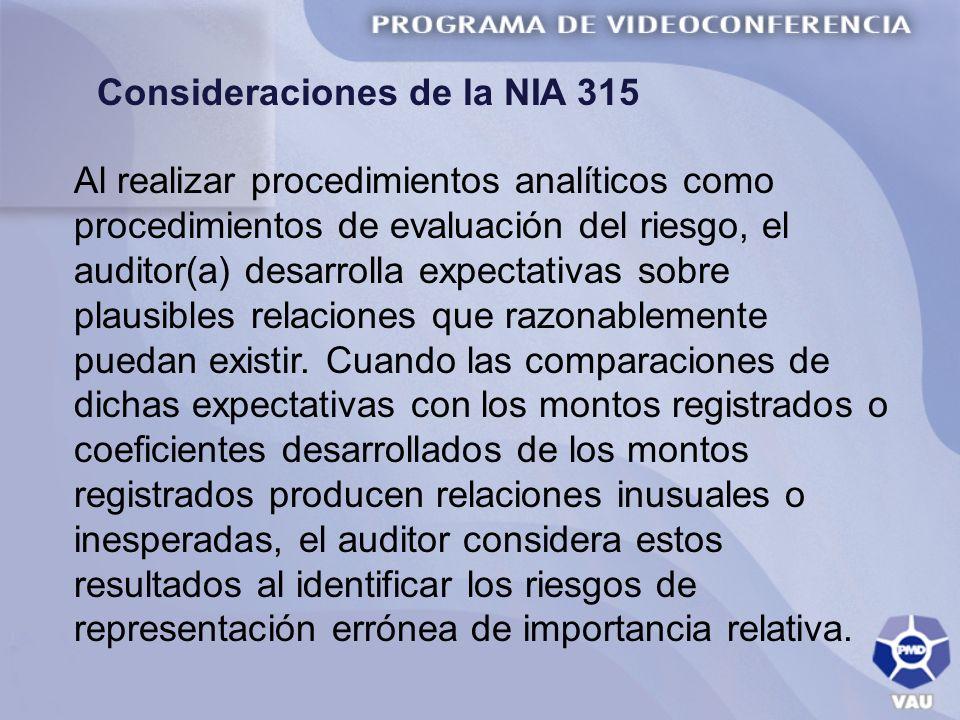 Consideraciones de la NIA 315