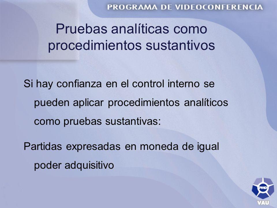 Pruebas analíticas como procedimientos sustantivos