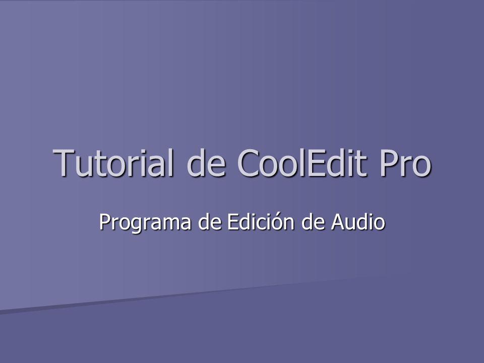 Tutorial de CoolEdit Pro