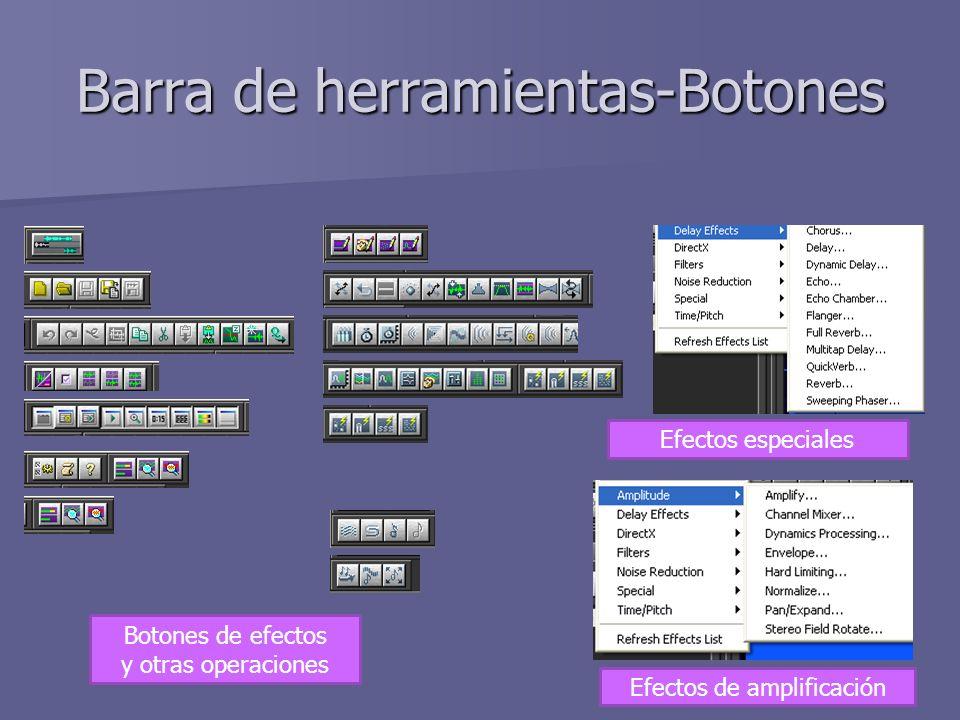 Barra de herramientas-Botones