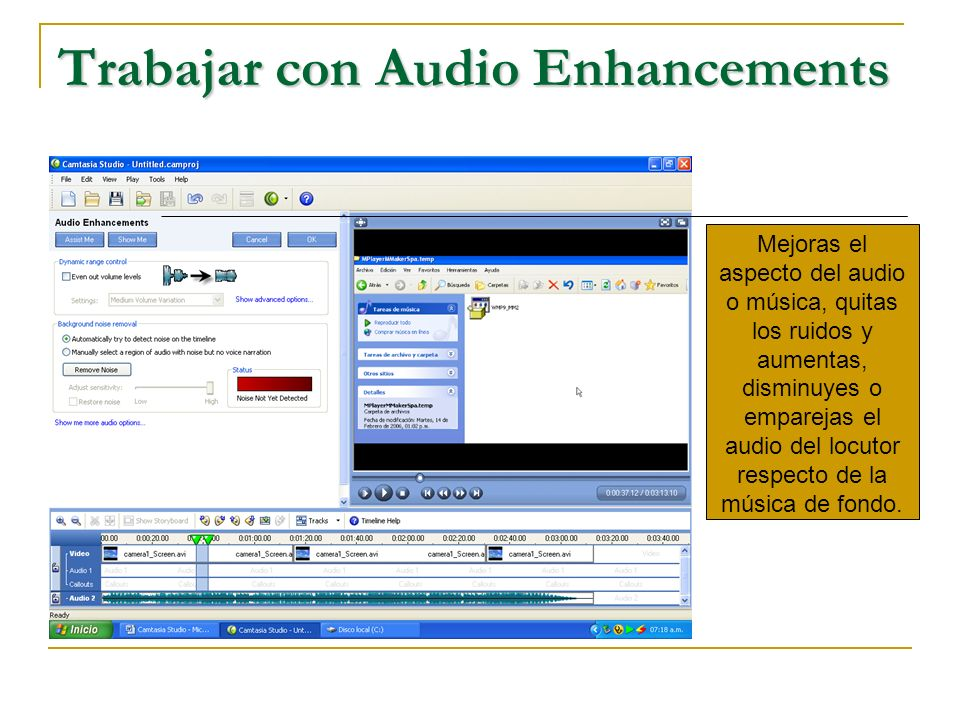 Trabajar con Audio Enhancements