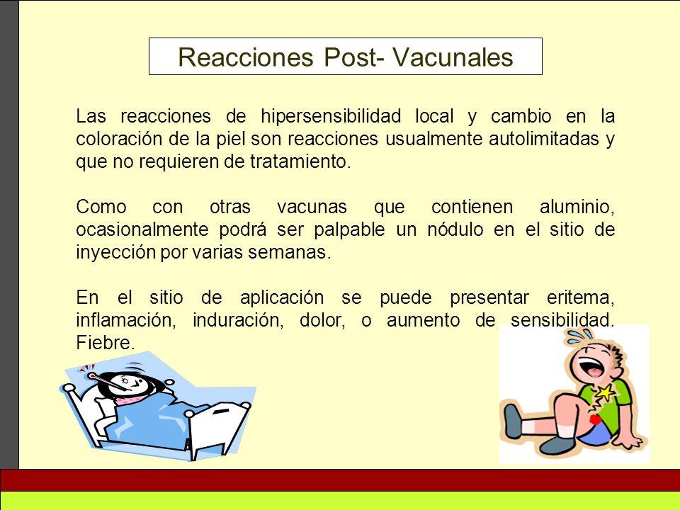 Reacciones Post- Vacunales