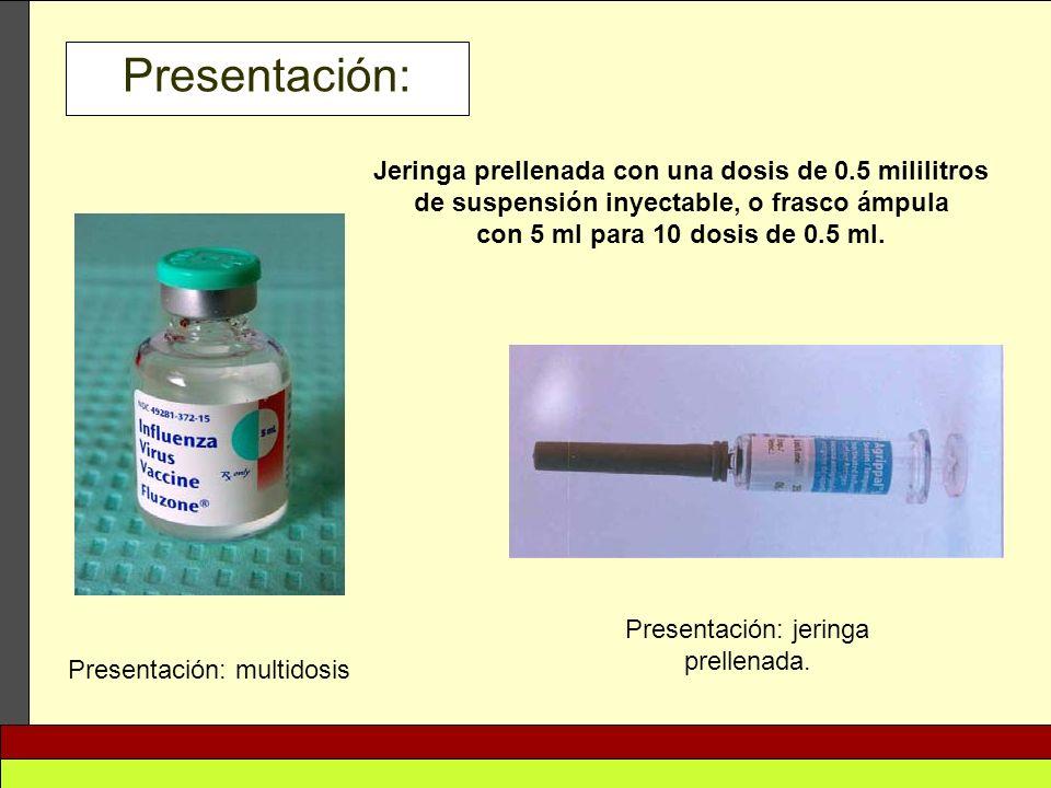 Presentación: jeringa