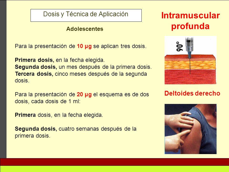 Dosis y Técnica de Aplicación