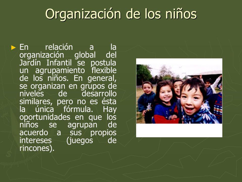 Organización de los niños