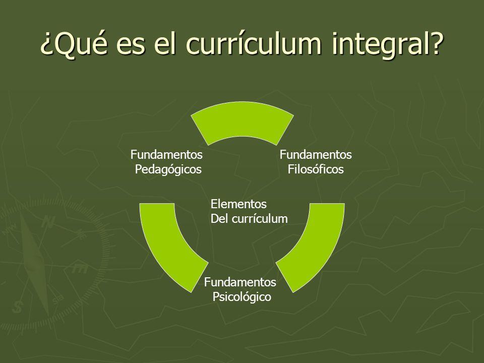 ¿Qué es el currículum integral