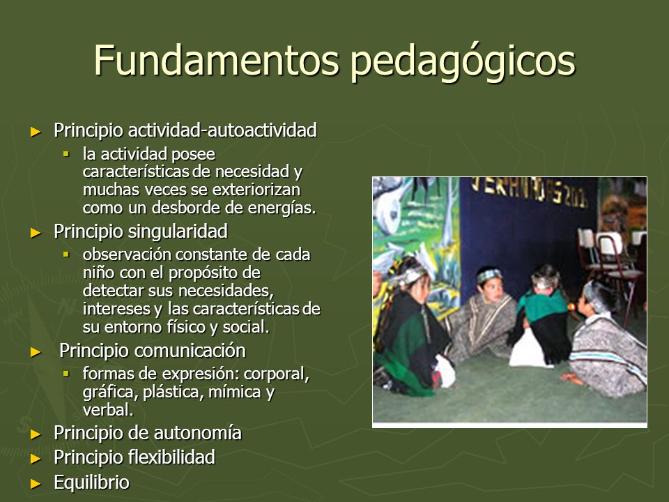 Fundamentos pedagógicos