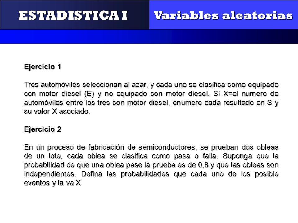 ESTADISTICA I Variables aleatorias CONTROL Y GESTIÓN
