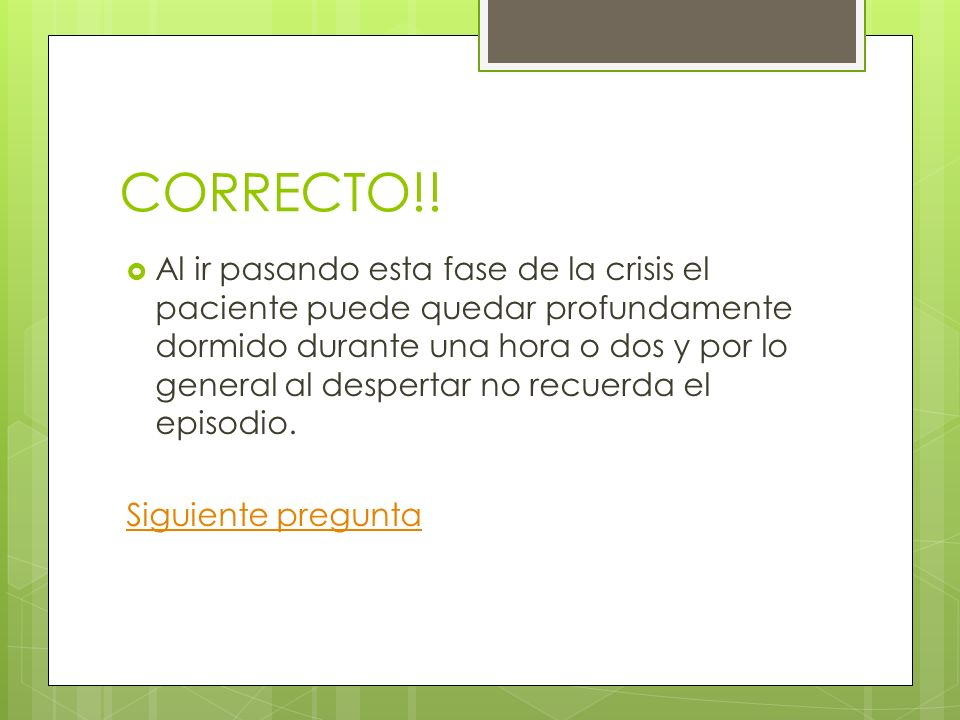 CORRECTO!!