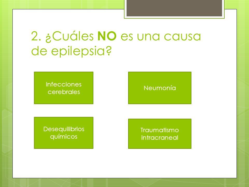 2. ¿Cuáles NO es una causa de epilepsia