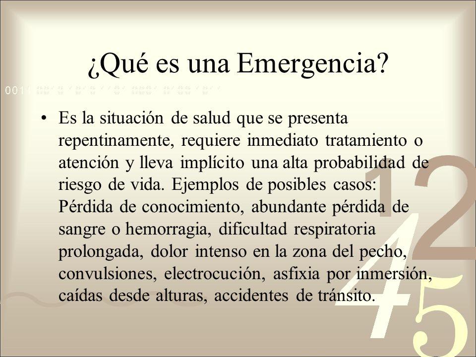 ¿Qué es una Emergencia