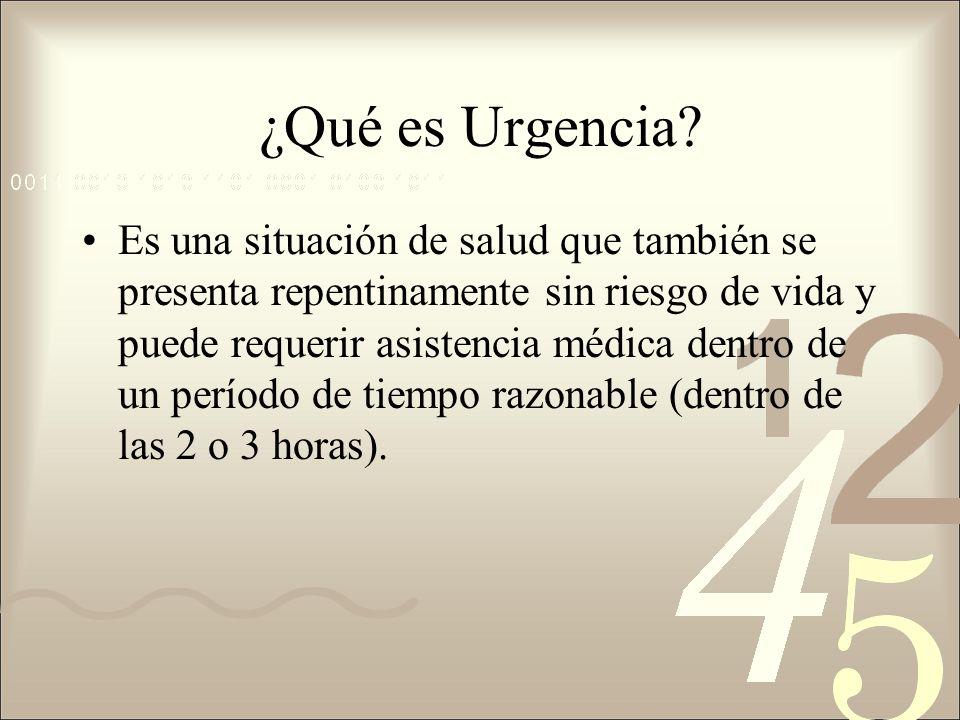¿Qué es Urgencia