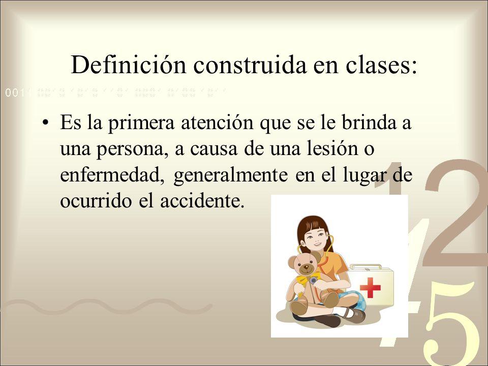 Definición construida en clases:
