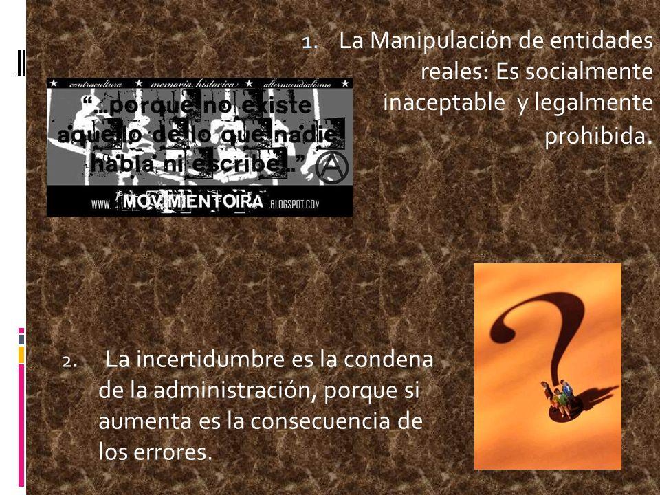 La Manipulación de entidades reales: Es socialmente inaceptable y legalmente prohibida.