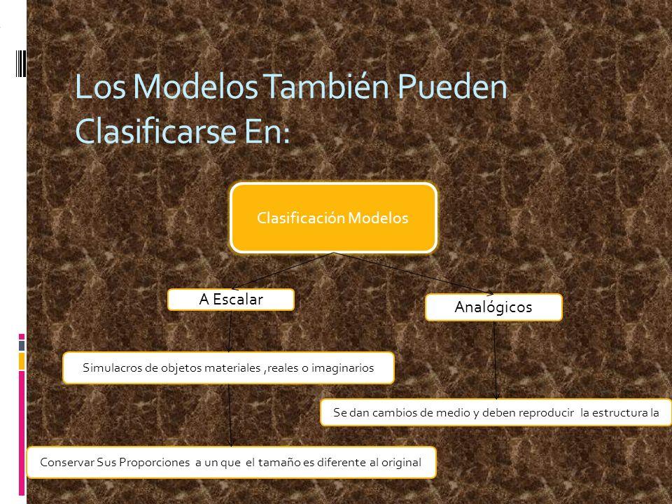 Los Modelos También Pueden Clasificarse En: