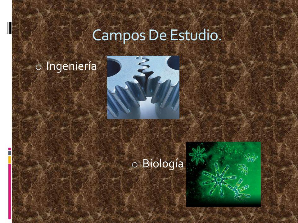 Campos De Estudio. Ingeniería Biología