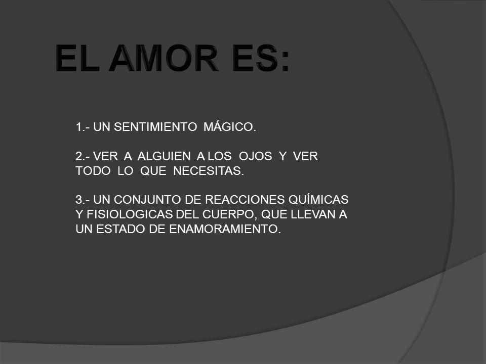 EL AMOR ES: 1.- UN SENTIMIENTO MÁGICO.