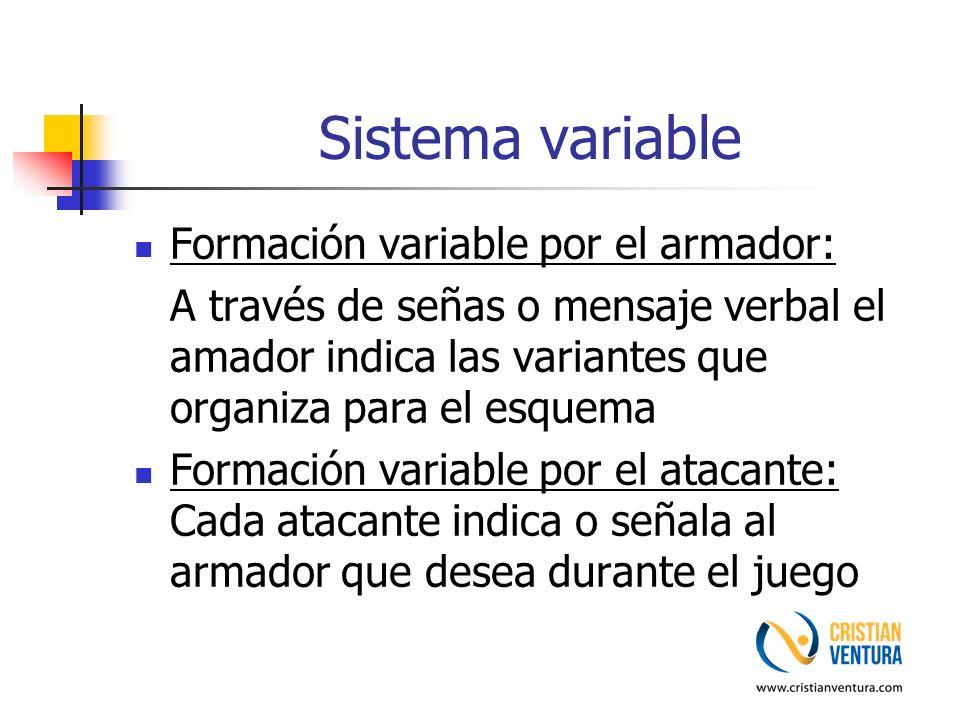 Sistema variable Formación variable por el armador: