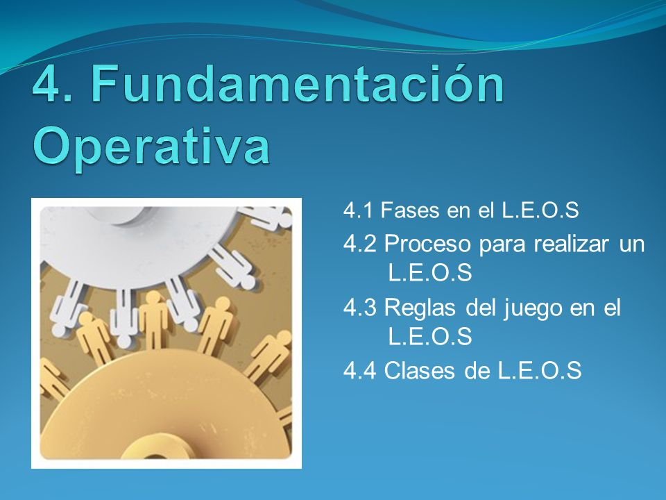 4. Fundamentación Operativa