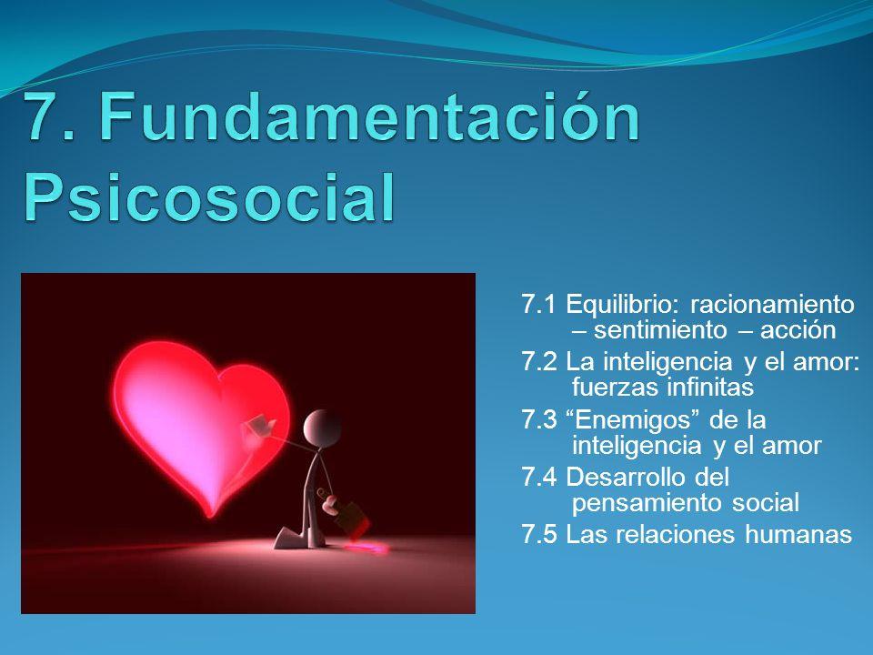 7. Fundamentación Psicosocial
