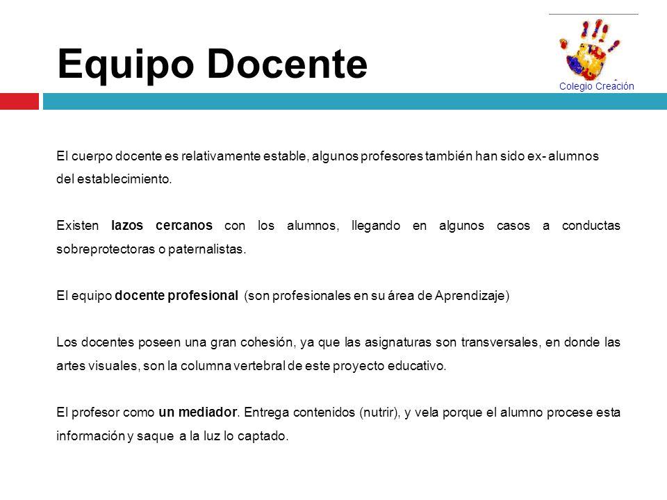 Equipo DocenteEl cuerpo docente es relativamente estable, algunos profesores también han sido ex- alumnos.