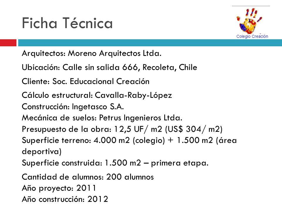 Ficha Técnica Arquitectos: Moreno Arquitectos Ltda.
