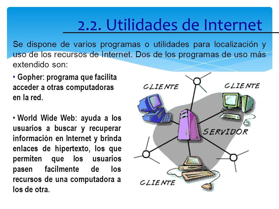 2.2. Utilidades de Internet