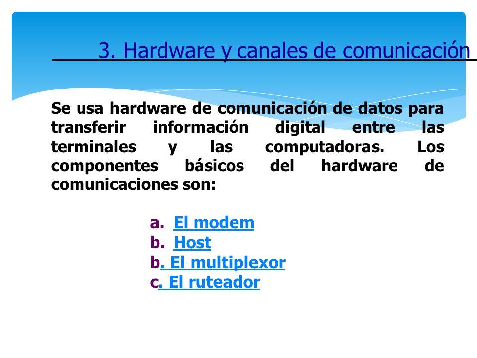 3. Hardware y canales de comunicación