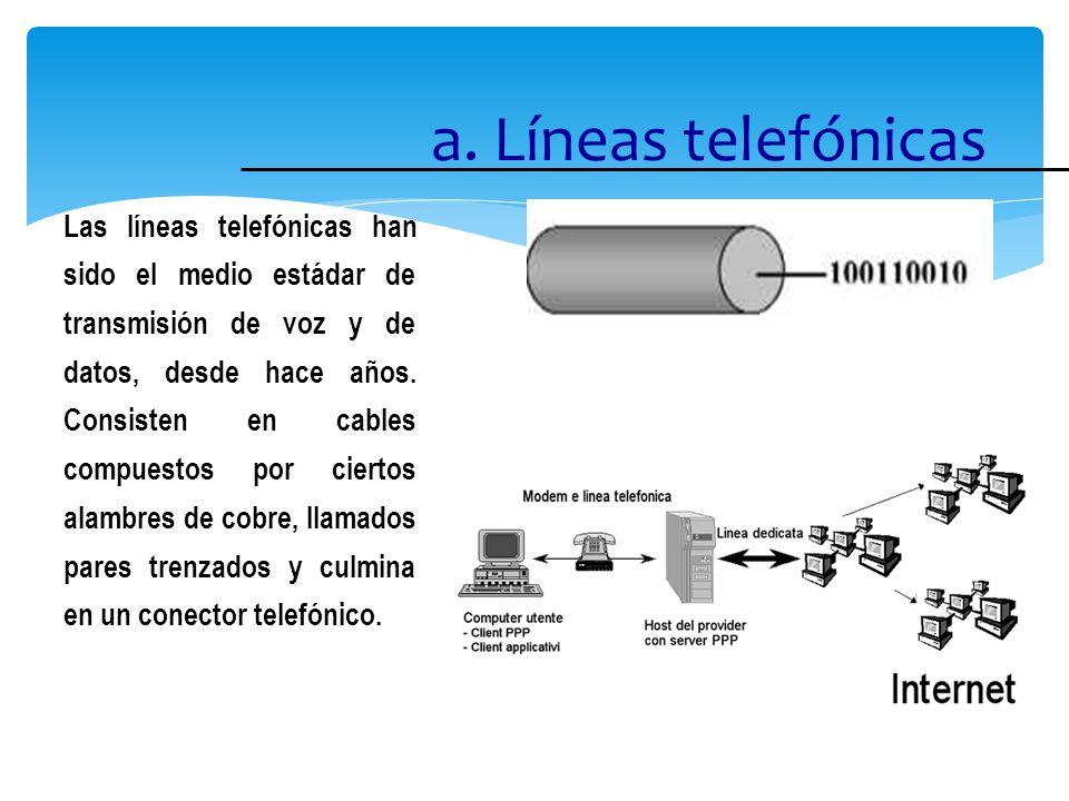 a. Líneas telefónicas