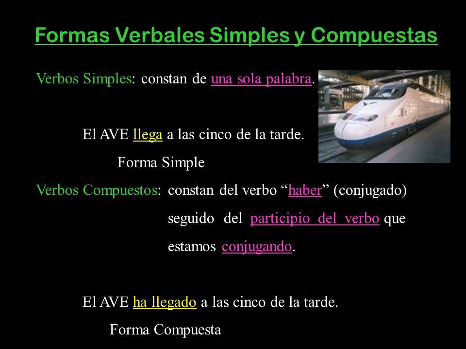 Formas Verbales Simples y Compuestas