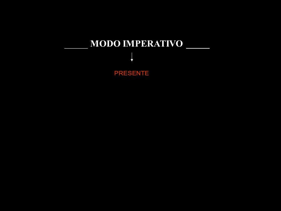 _____ MODO IMPERATIVO _____