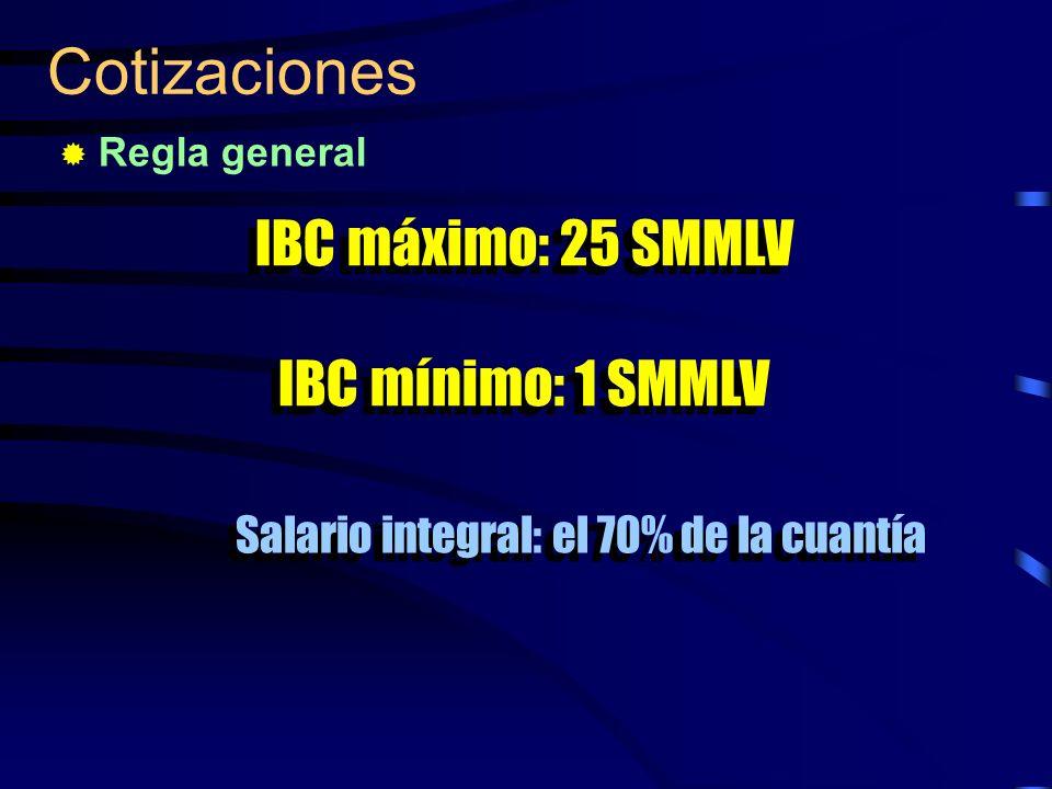 Salario integral: el 70% de la cuantía