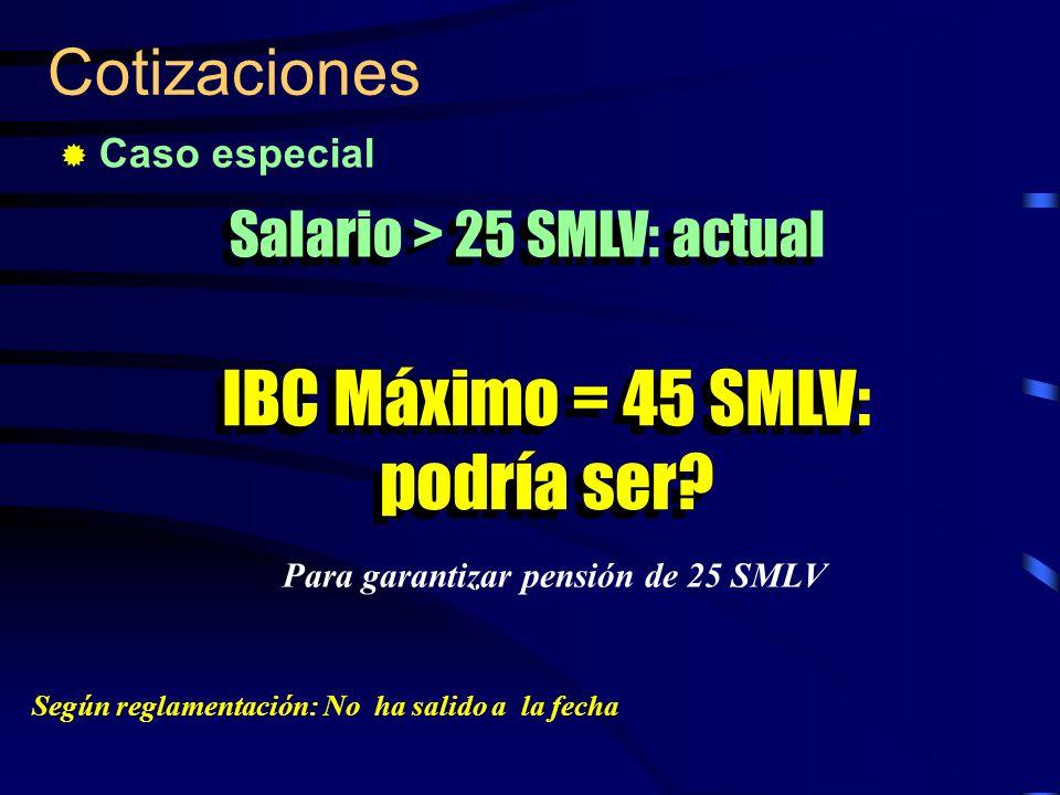 Para garantizar pensión de 25 SMLV