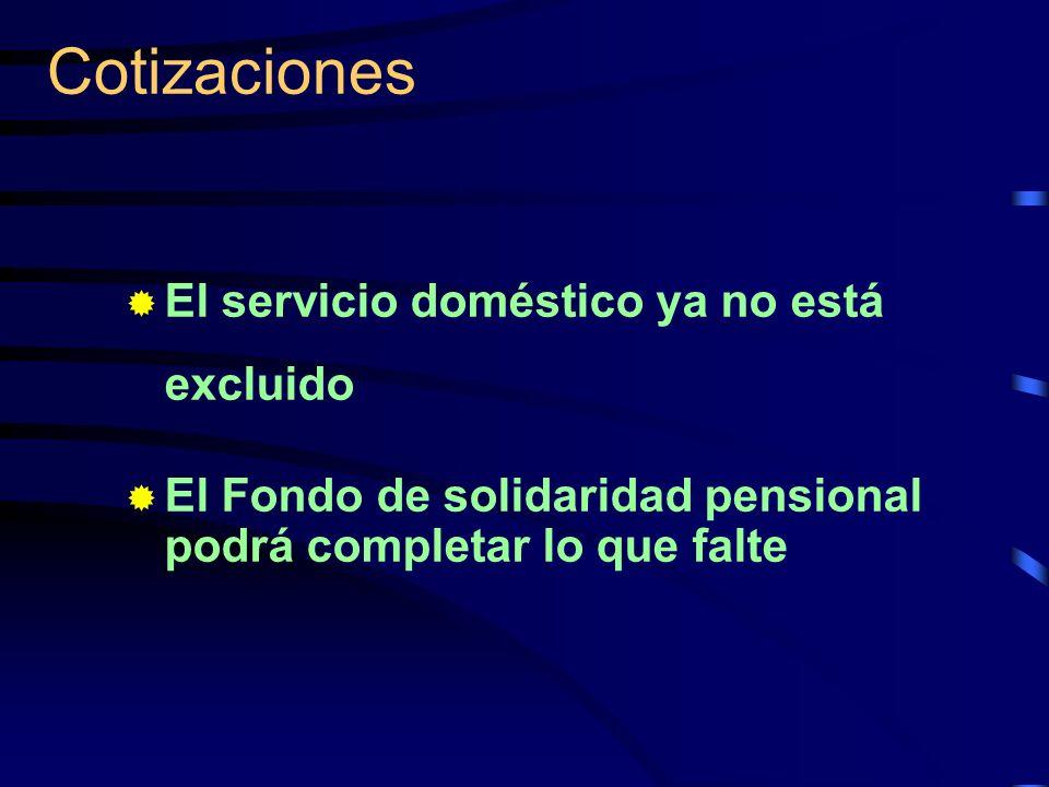 Cotizaciones El servicio doméstico ya no está excluido