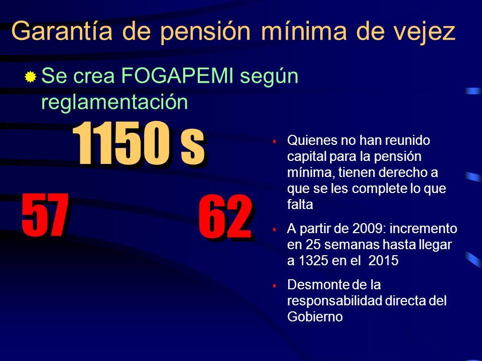 1150 s 57 62 Garantía de pensión mínima de vejez