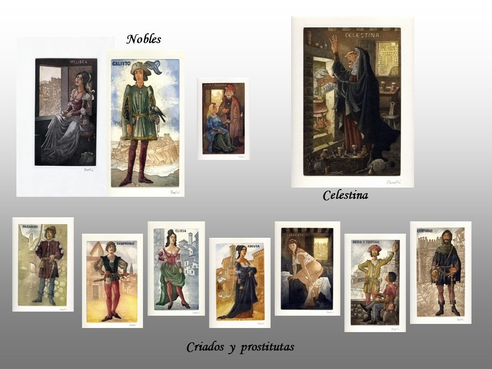 Nobles Celestina Criados y prostitutas